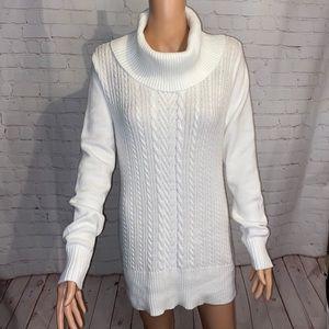 White House Black Market white turtleneck sweater